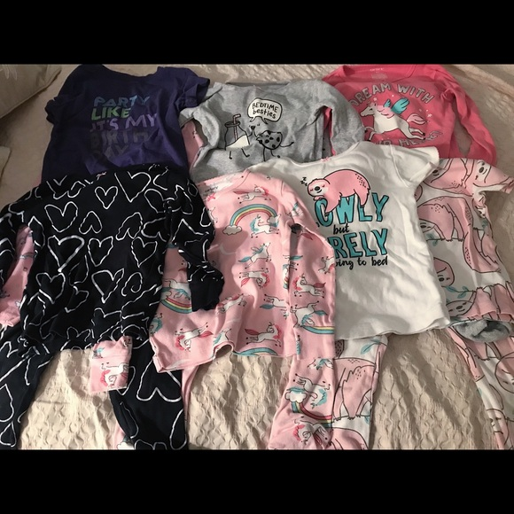 Carter's Other - Lot of girl's Carters pajamas 4T